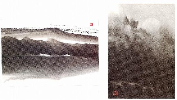 遺作展で配布された絵葉書
