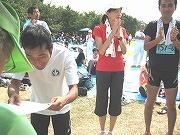 男女混成の部2位の武庫川マラニック学園チーム