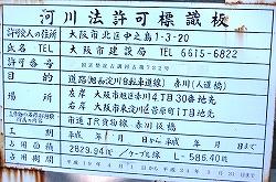 赤川鉄橋の標識板