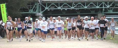 ハーフマラソンのスタート