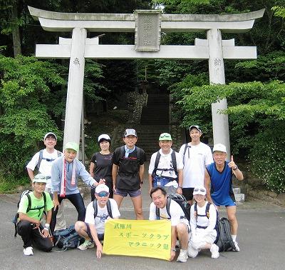 三田市熊野神社前にて