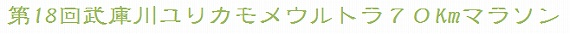 第18回武庫川ユリカモメウルトラ70Kmマラソン