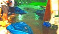 大会本部近くまで浸水