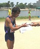 男子ハーフ優勝者;松本明さん
